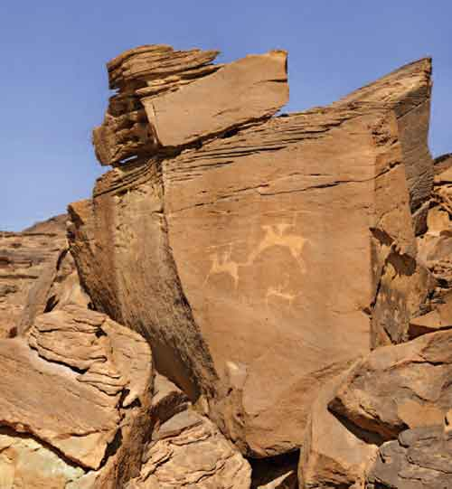 Petroglyph, or Rock Art, in Saudi Arabia, photo by Richard Bryant