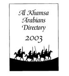 Al Khamsa Arabians Directory, 2003