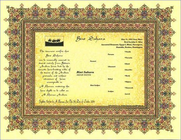 Al Khamsa Certificates